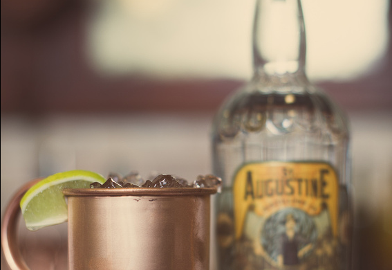 The Florida Mule made with Florida Cane Vodka in a copper cup