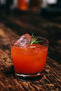 A Strawberry Switchblade cocktail